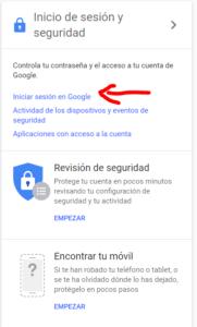 Como cambiar contrasena gmail