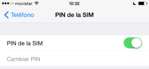 Cómo cambiar PIN SIM en Iphone
