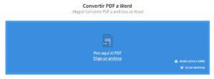 cambiar PDF a Word