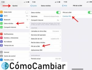 como cambiar Pin Iphone