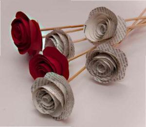 flores de papel san valentin